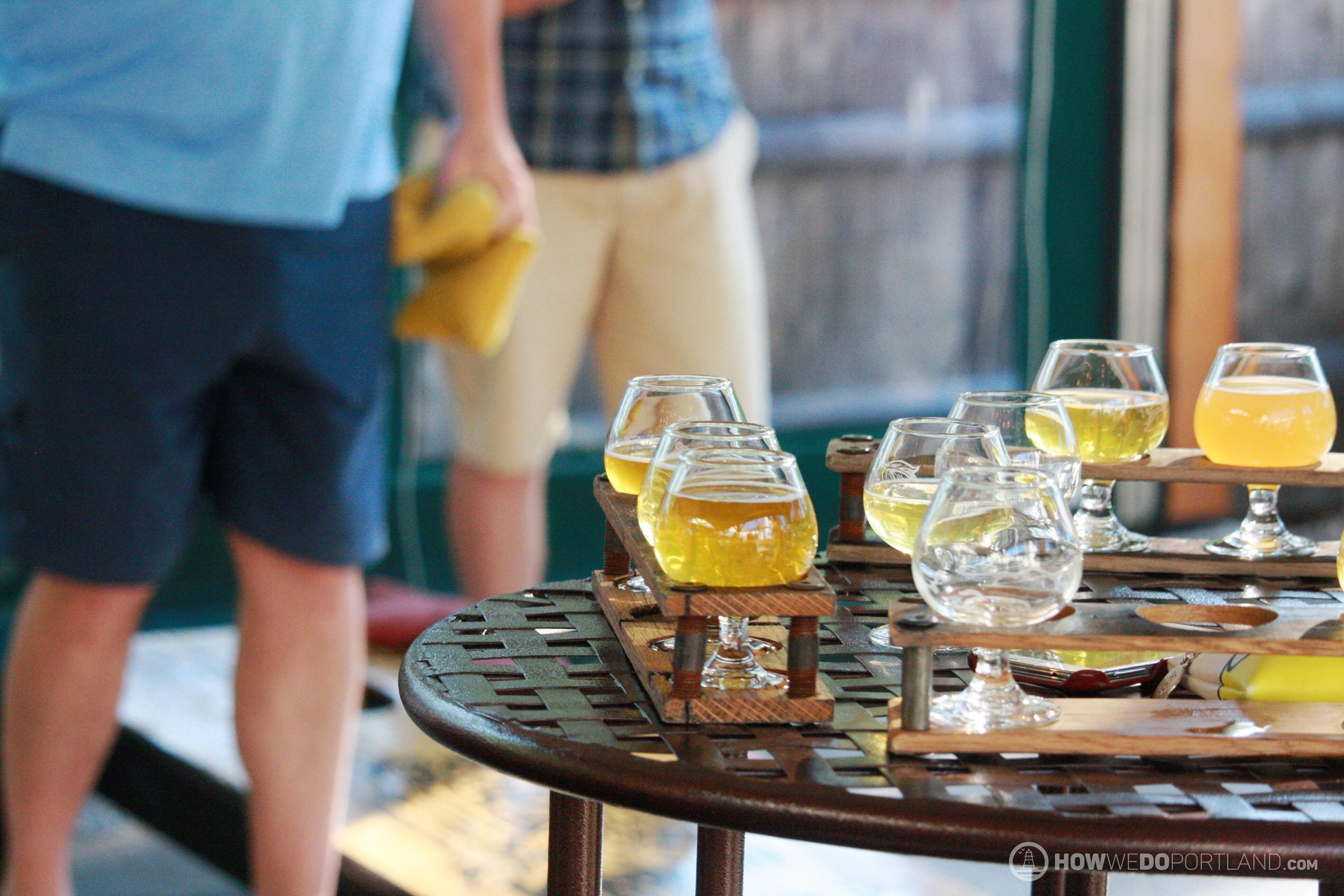 Cornhole at Allagash Brewing-Portland Maine