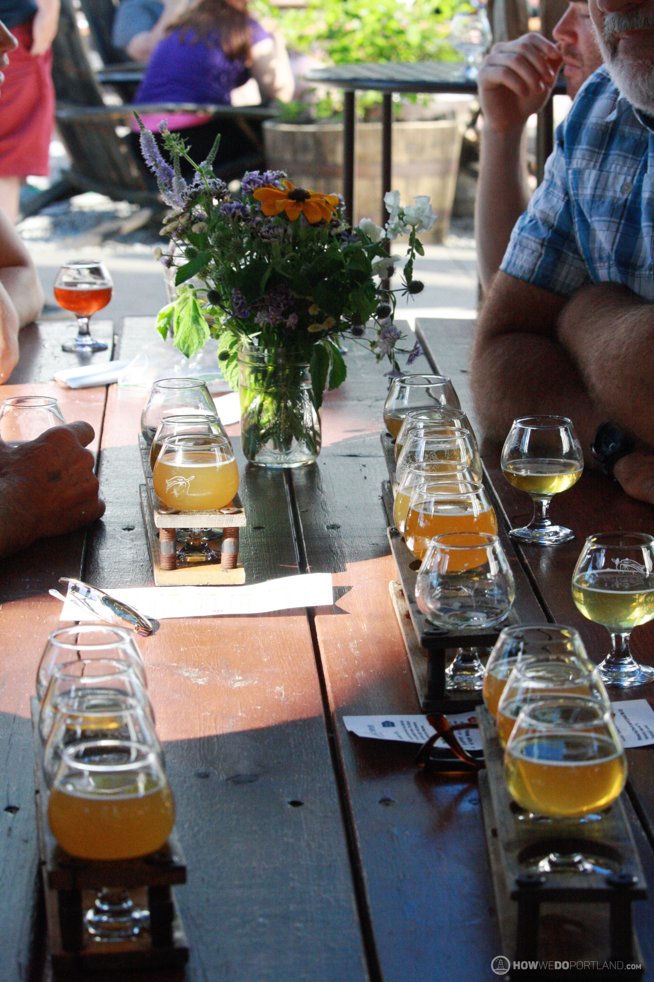 Patio at Allagash Brewing-Portland Maine