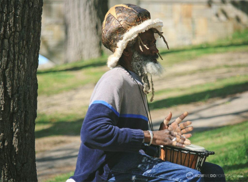 Drummer at Deering Oaks Farmer's Market