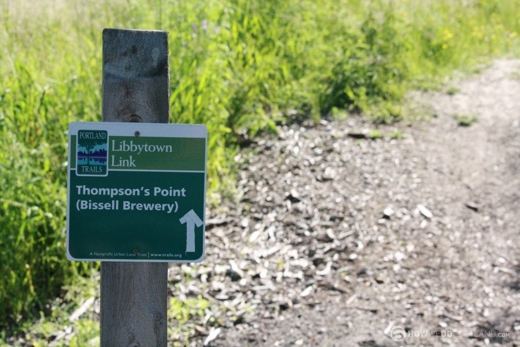 Trail Between Bissell Brothers & Bunker Brewing