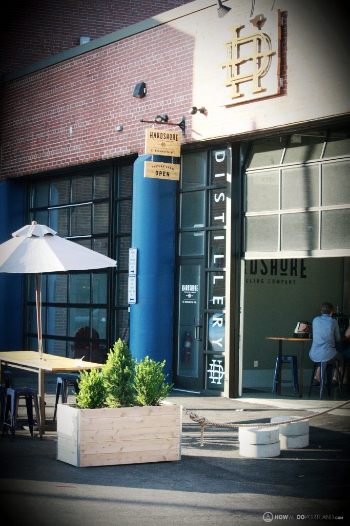 Hardshore Distilling Tasting Room Patio