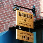 Hardshore Distilling Tasting Room Sign