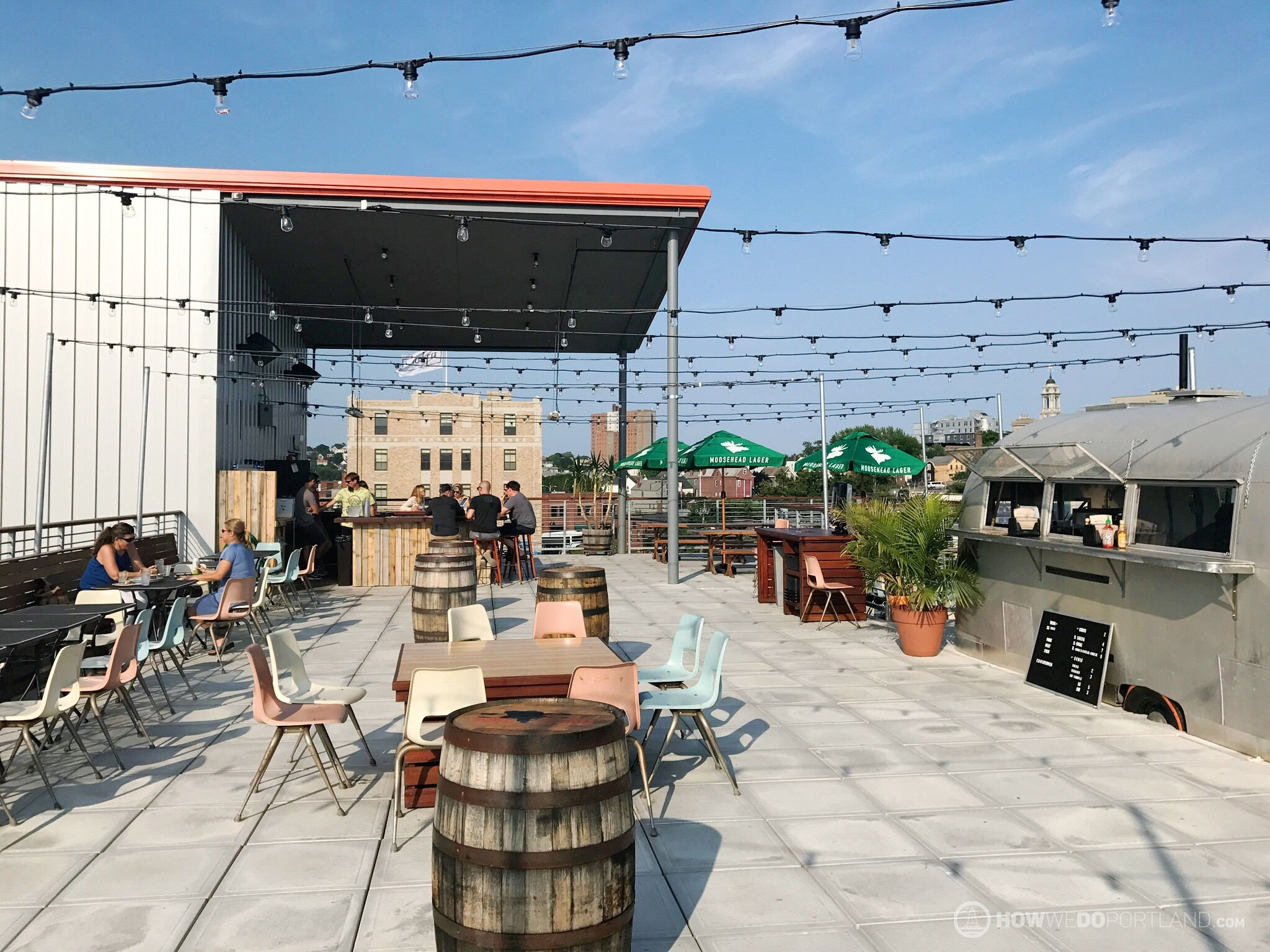 Rooftop Deck at Bayside Bowl