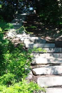 Stroudwater Trail: Stairs at Trailhead