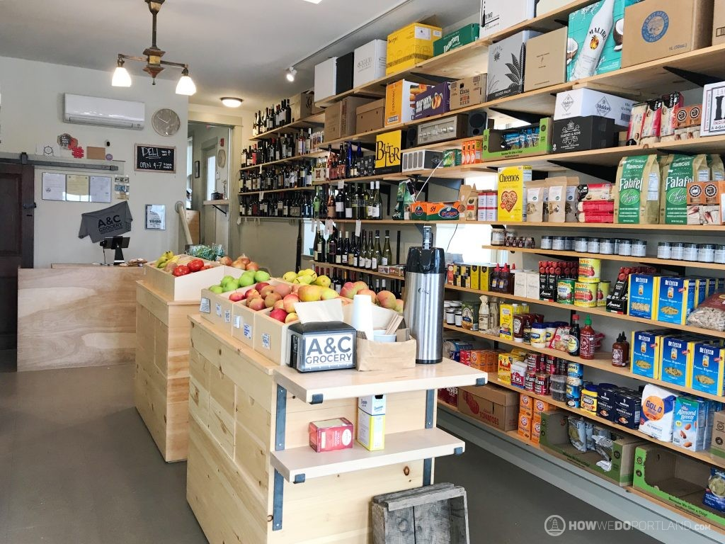 A&C Grocer Interior-Local Grocers Portland Maine